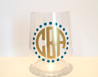 Personalized Circle Dots Monogram Decal