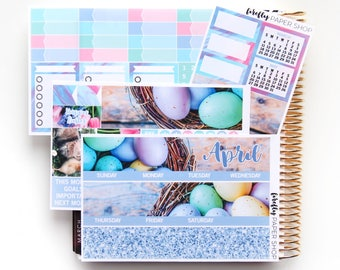 April Monthly Kit (stickers for Erin Condren Life Planner)