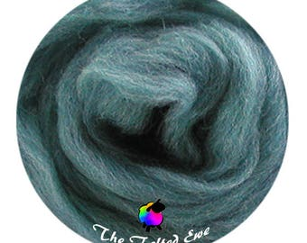 Needle Felting Wool Roving / ES11 Ocean Waves Carded Wool Sliver