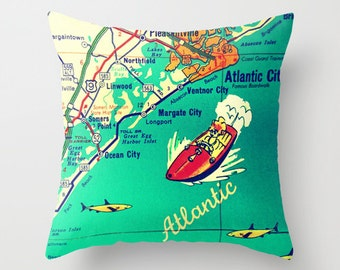 Jersey Shore Pillow Cover NJ Throw Pillow NJ Gift New Jersey Gift Jersey Girl Gift Ocean City NJ Atlantic City Ventnor Margate Jersey Strong