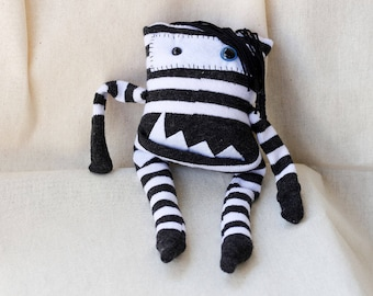 Sock Monster – Black & White – Pocket Size