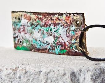 Sale  Primitive Necklace Rustic Jewelry Metal Patina Boho Fashion OOAK
