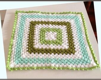 Crochet baby afghan blanket, crochet blanket, pram blanket, crochet afghan, crochet throw, baby shower gift, stroller blanket, lovey blanket