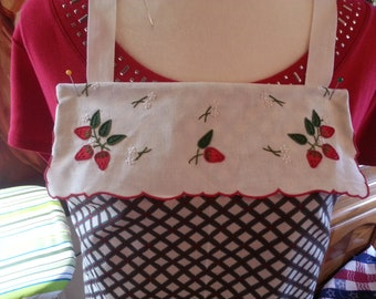 Strawberries Full-Size Apron