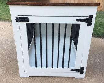 Handmade single dog kennel