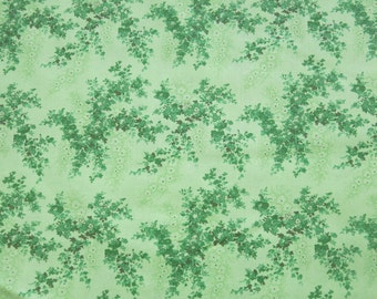 "1/2 yard of 100% cotton ""Green leaf"" fabric"