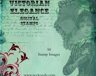 Vintage elegance Digital Stamp Set