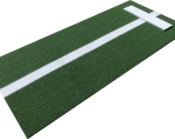 3'X4' Premium Turf Softball Pitching Mat with Power Line in Green