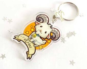Chibi Zodiac Aries keychain