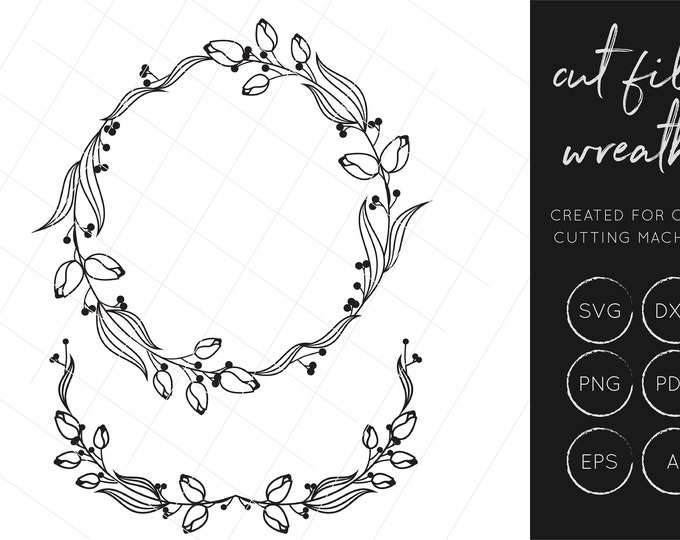 Wreath SVG, Laurel SVG, Gold Foil