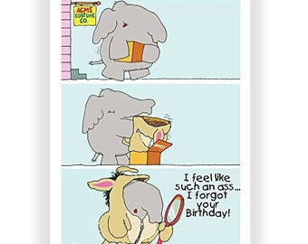 Feel Like Such an Ass - Single Birthday Cards - 5x7 Birthday Card - 11379-1