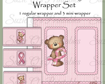 Breast Cancer Awareness Candy Bar Wrappers - Digital Printable - Immediate Download