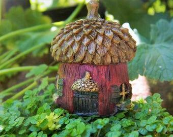 Miniature Acorn House Fairy Garden House  Fairy Garden Accessories Tiny Acorn House Terrarium Accessory