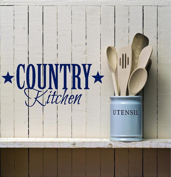 Kitchen Decor Words: Items Similar To Country Kitchen