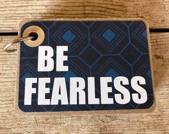 Tiny Book with BIG Truths:  Be Fearless in geometric blues