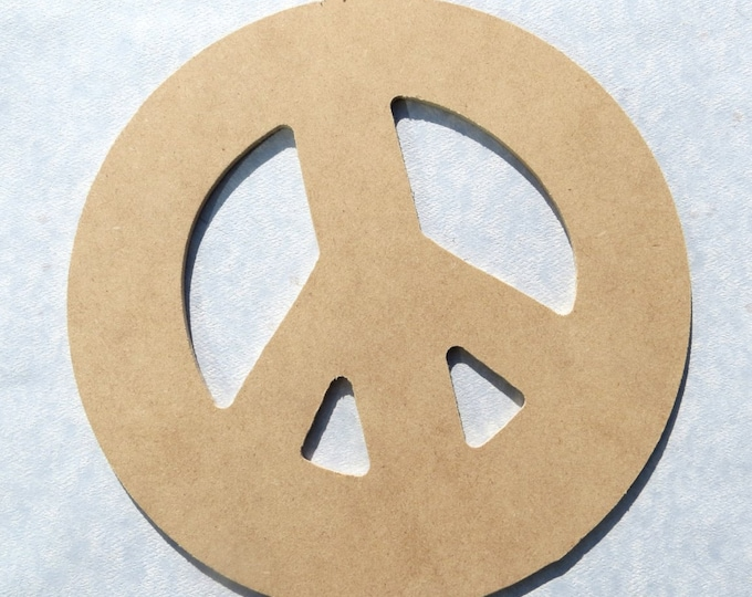Peace Sign Plaque -  Use as a Base for Mosaics Decoupage or Decorative Painting - Unfinished MDF Thin