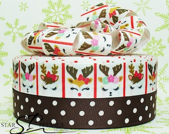 "7/8"" - 1"" Christmas Grosgrain Ribbon"