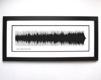 Don't Drink the Water Music Canvas - Art Poster Print - Song Canvas created from Soundwaves