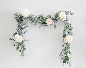 Flower Garland, Wedding Flowers, Silk Flowers, Floral Garland, Wedding Garland, Silk Flower Garland, Rose Garland