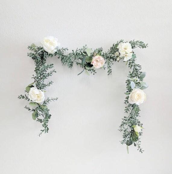Wedding Flower Garlands: Flower Garland Wedding Flowers Silk Flowers Floral Garland