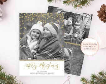 Christmas Card, Christmas Cards, Personalized Christmas Card, Printable Christmas Card, Christmas Card with Photo, Christmas Card Set [686]
