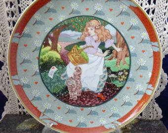 A Tisket, A Tasket Collectible Plate with COA , Once upon a rhyme By Renee Faure, Collectibele Plate, Heinrich W Germany, A Tisket, A Tasket