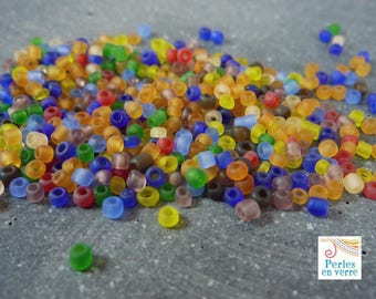 small 20 g (roc11) multicolored seed beads