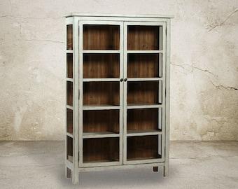 Bookcase, Bookshelves, Reclaimed Wood, Display Cabinet, China Cupboard, Handmade
