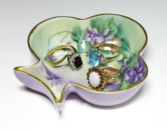 Vintage Hand Painted Royal Austria Trinket Dish - circa 194's