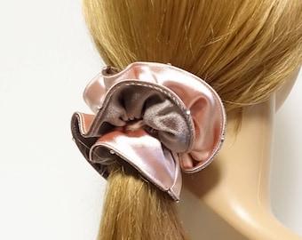 Velvet Satin Fabric Mix Hair Elastic Ponytail Holder