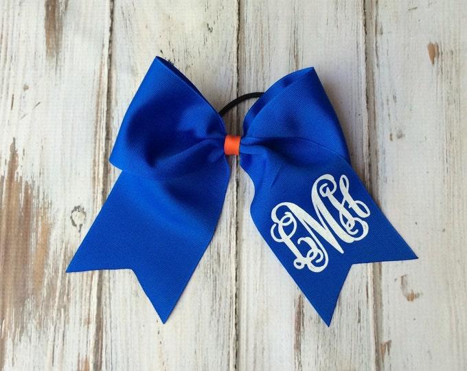 Monogram Cheer bow, Cheer Team Bows, Monogrammed Hair Bow, Big Cheer Bow, Monogrammed Gifts, Cheer bows Etsy, TEAM DISCOUNTS