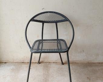 Vintage Mid Century Modern Salterini Rid Jid Steel Folding Hoop Chair