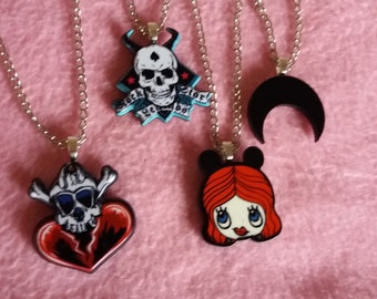 Pastel goth/gothic halloween necklaces