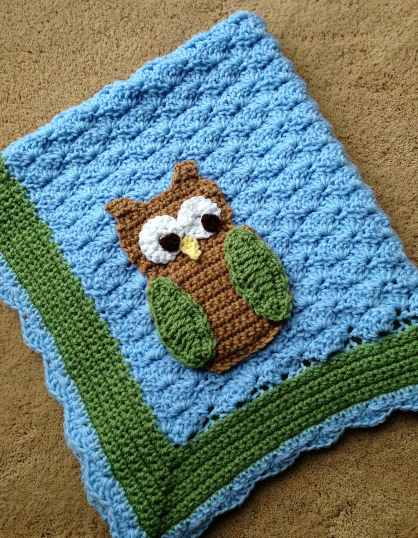 Little Hoot the Owl Crochet Baby Blanket Pattern from ...