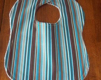 Stripes in Blue Bib