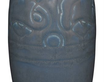 Rookwood Pottery 1927 Mottled Blue Vase 2852