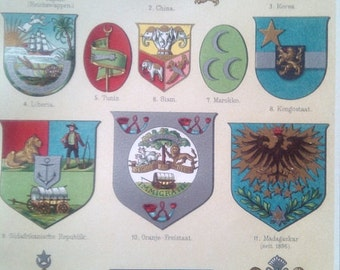 """Chromolithograph """"Coat of arms IV."""""""