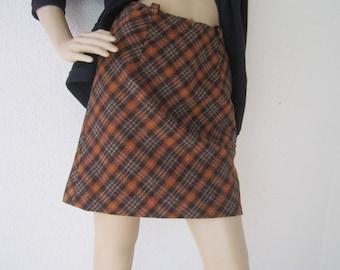 "Vintage 60s A-line skirt wool skirt ""Twiggy"" true vintage rock s"