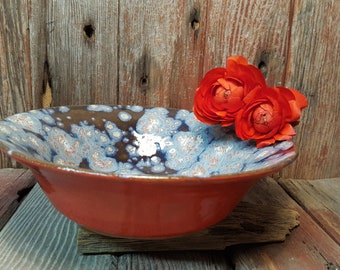 Root Chakra Ceramic Bowl, Vivid Red Ceramic Artisan Bowl, Unique Handmade Ceramic Serving Bowl
