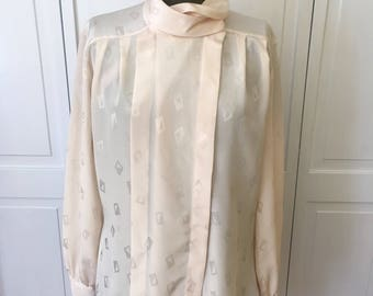 Free shipping Peters and Ashley Secretary Blouse vintage 80s