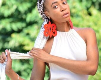 Hye gewann Hye / / Adinkra / / Afrocentric / / natürliche Holz handbemalt Ohrringe / / Afrikas und der Karibik inspiriert Schmuck