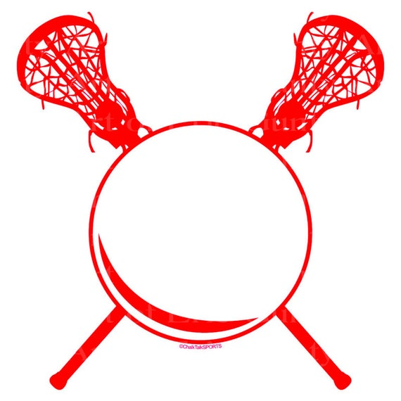 Red LaCrosse Birthday - Edible Cake and Cupcake Topper For Birthday's and Parties! - D22475