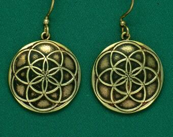 SEED OF LIFE- Bronze- Earrings