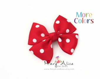 "Boutique Hair Bow- 3.25"" Girls Hair bow, pink hair bow, Butterfly hair bow, non slip hair bow, polka dot hair bow- Made to Order- Style DDT2"