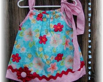 Girls Pillowcase Dress Infant toddler flower Custom..Seasonal Flowers..sizes 0-6, 6-12, 12-18, 18-24 months, 2T, 3T..Bigger sizes AVAILABLE