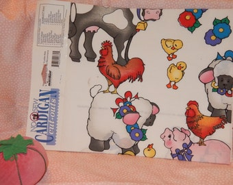 Vintage '' Daisy Kingdom'' for Cardigan , Sweat Shirt ,Quilt etc. cut-outs Animal Stack