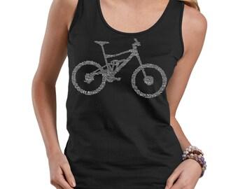 Bike Parts Tank Top Bicycle Ladies Tank Top