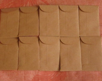 "25 Brown Coin Envelopes - 2 1/8"" x 3 5/8"", Brown Seed Envelopes, Confetti Envelopes, Seed Packets, Wedding Favors, Confetti Bags"