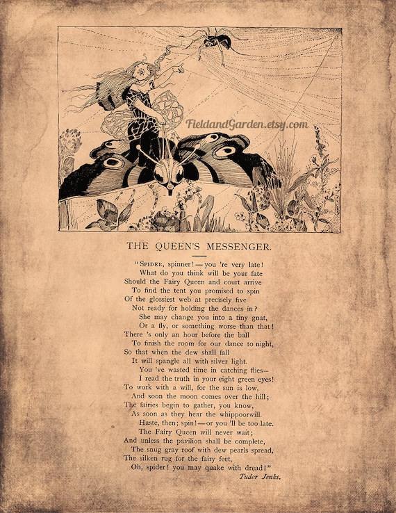 Victorian Children\'s Poem for DIY Wall Art, Scrapbooking or Card ...