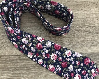 Colorful skinny 6cm floral tie